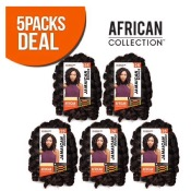 Sensationnel Synthetic Hair Crochet Braids African Collection Jamaican Bounce 26 (5-Pack, 1B) by Sen